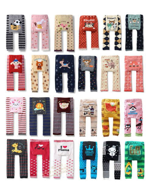 Baby Toddler Boys Girls Cotton Animal Leggings PP Pant 39 model 0-36 Months