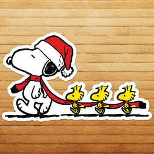 Snoopy-Peanuts-Woodstock-Christmas-Xmas-Die-Cut-Wall-Car-Window-Decal-Sticker