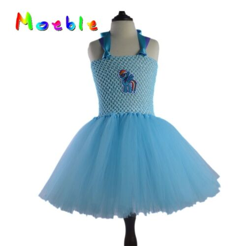 Kids Girl Rainbow Tutu Dress Summer Party Gown Ballet Clothing Style Design New