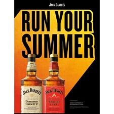 "jack daniels honey ""Run the summer""poster 18 by 24"