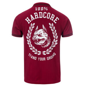 "????100% Hardcore Poloshirt ""stand Your Ground"" 