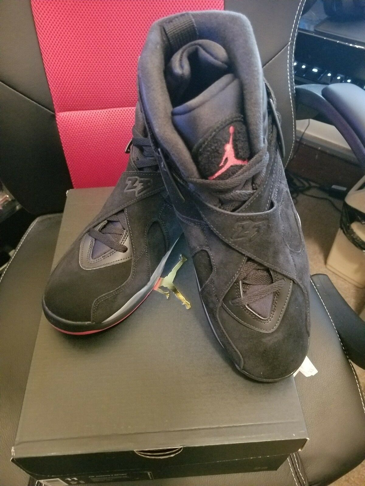 brand new 0f4e5 3d3e6 SHIP NOW Nike Air Jordan 8 VIII Retro Cement 11 11 11 Black Red Grey 305381