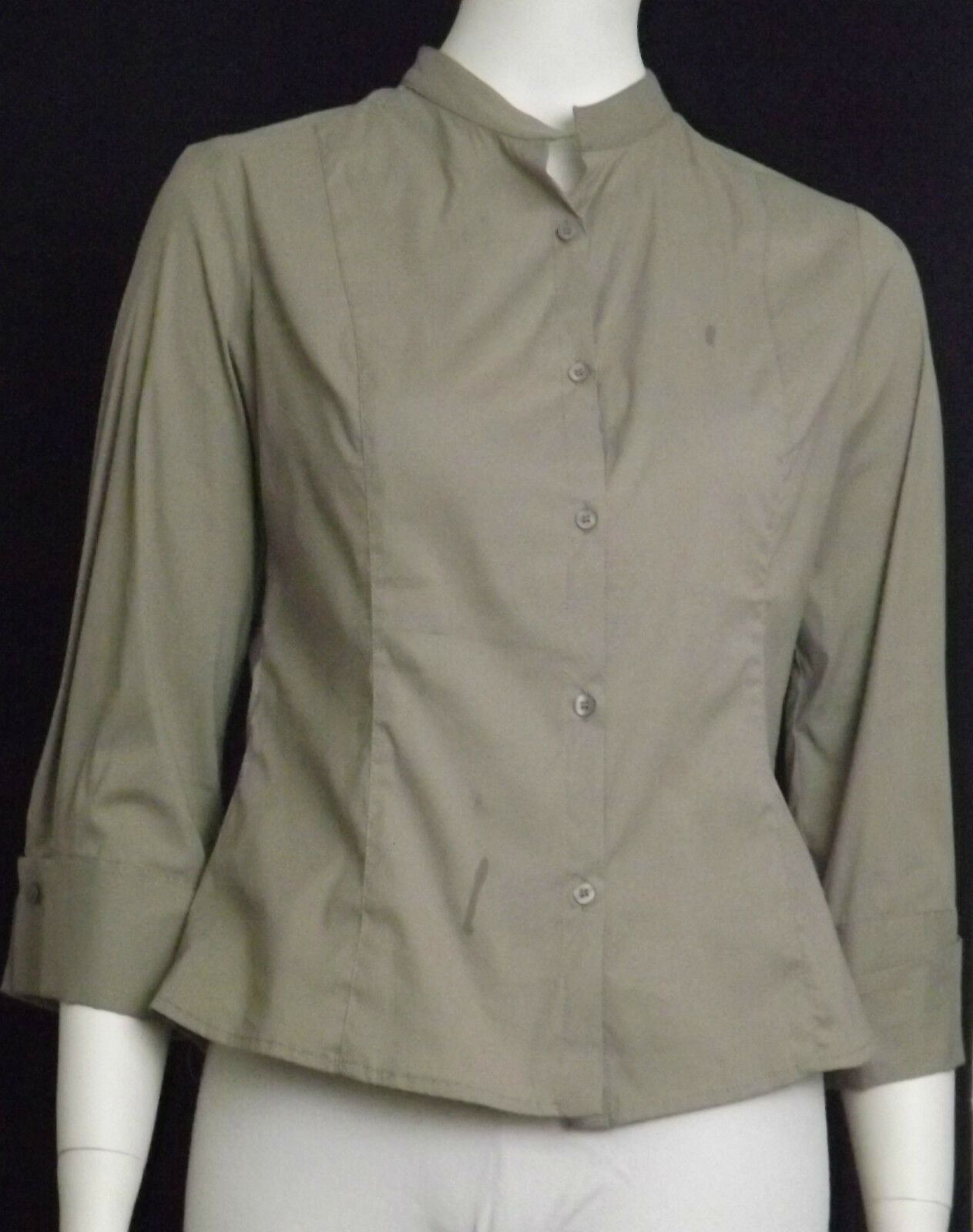 Sarah Pacini Ladies Fashion, Größe 2, Light braun, Button up Shirt. 2898