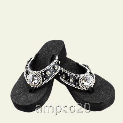 Montana West Women Flip Flops Wedged Sandals  Bling Bling Collection Fashion New