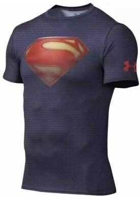 Ruina Comorama italiano  Under Armour Superman Alter Ego Compression Shirt ADULT XL RARE  DISCONTINUED | eBay