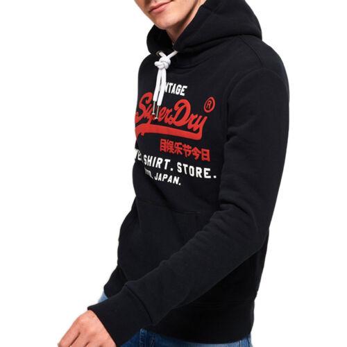 Superdry Felpa da Uomo con Cappuccio Sweat Shirt Shop Duo Blu Codice M20004NS-98