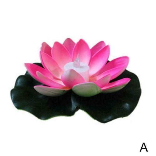 Outdoor schwimmende Lotus Licht Pool Garten Wasser LED-Leuchten Blume Z1M3