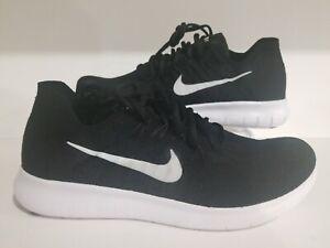 Nike Free rn Flyknit 2017 Negro/Blanco 880843 001 para ...