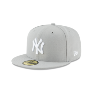 New York Yankees Gray Basic New Era 59FIFTY Fitted Hat