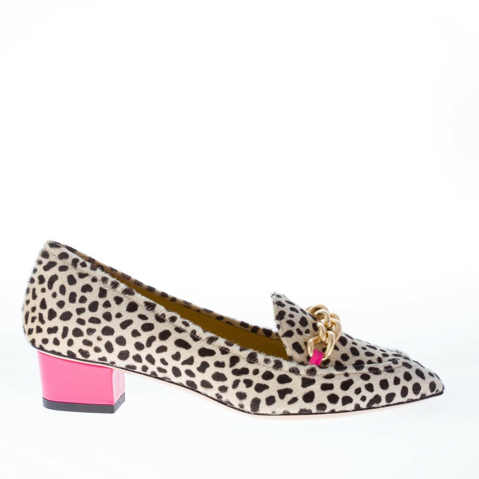 Charlotte olympia femmes chaussures francis mocassin dans cheetah print ponyskin