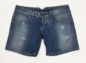 Up-jeans-shorts-w30-tg-44-vita-bassa-jeans-mom-hot-corti-sexy-strappi-blu-T2722