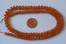Mandarin-Granat-Strang(Rondell, fac.verlauf 5-7,5mm) J-0481/J