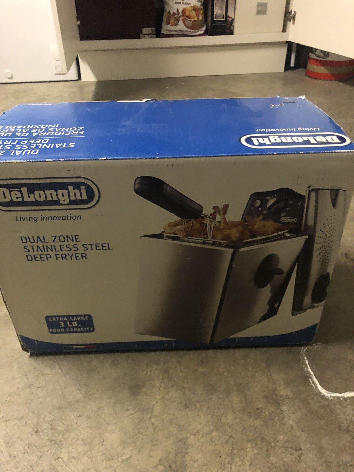 Delinghi Deep Fryer Dual Zone 3 Pound Capacity