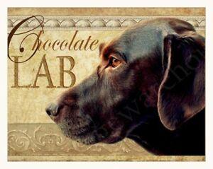LABRADOR RETRIEVER CHOCOLATE DOG BREWING COMPANY PRINT RETRO ADVERTISING POSTER