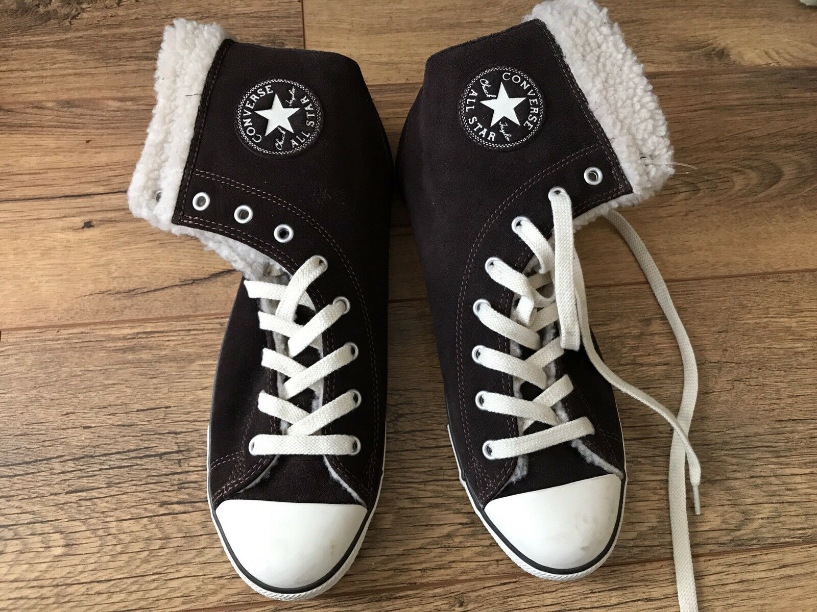 All Star Brown Soft Leather Converse Size 7