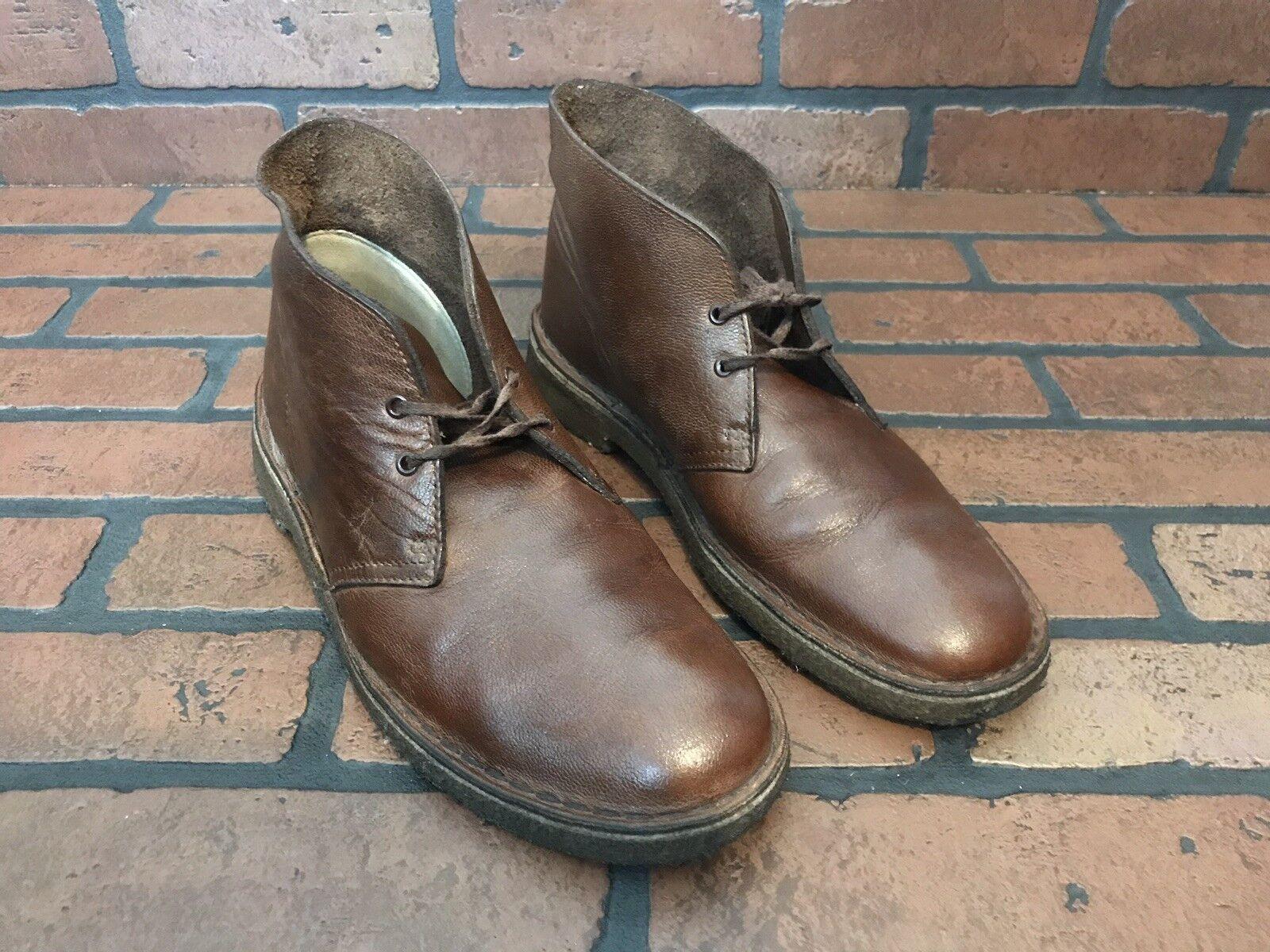 botas Desierto Clarks Cuero Marrón Oscuro