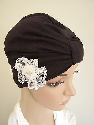 CHEMO / CANCER / ALOPECIA COTTON  TURBAN / WRAP / HAT CAP FOR HAIR LOSS