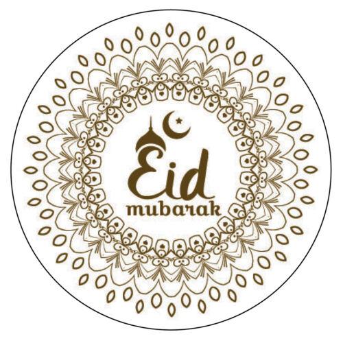 70 x EID Mubarak Muslim Islam Favour Gift Stickers Eid al-Adha Dhul Hajj 905