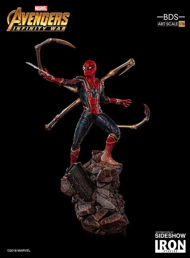 100% Authentic Hot Figures Iron Studios Spiderman Statue Toys Marvel 1 10