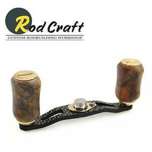 Rodcraft wood knob gold pattern carbon replacement for Fishing reel handles replacement