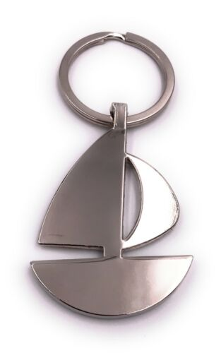 Segelboot Boot flach anders Schlüsselanhänger Anhänger silber aus Metall