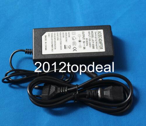Aire Acondicionado 100V-240V Convertidor Adaptador De Corriente Directa 5V 8A 40W Power Supply cargador corriente directa 5.5mm