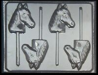 Large Horse Head Lollipop Chocolate Candy Mold 609 -new