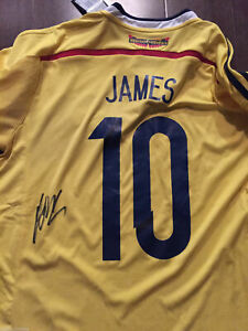 promo code e1fba e15dc Details about Colombia James Rodriguez Autographed Signed Jersey JSA COA  BNWT
