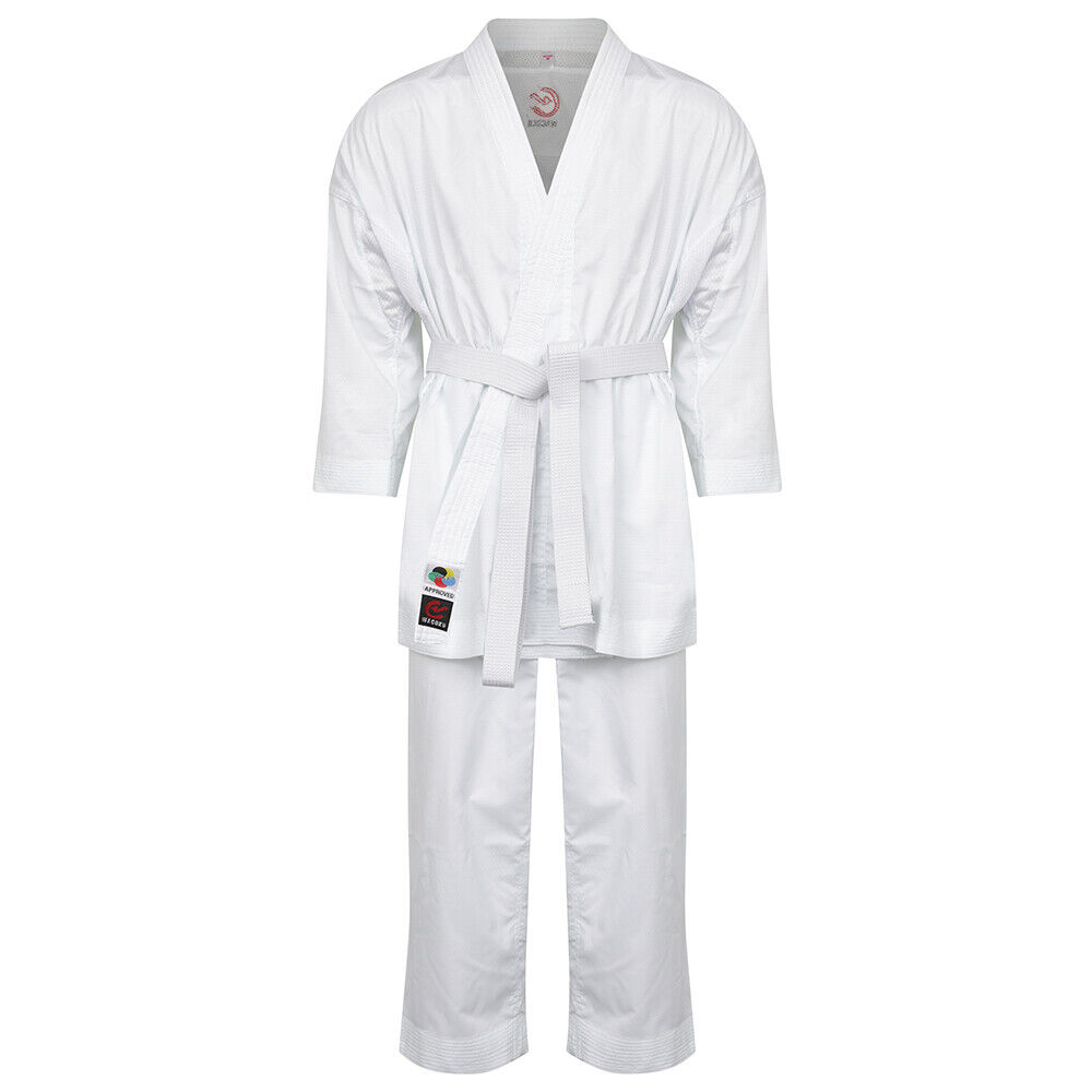WKF Approved Karate Fighter Suit Ultra Light  Weight Uniform Training GI Dobok  happy shopping