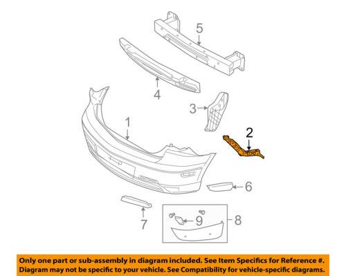 MAZDA OEM 04-09 3-Bumper Cover Mounting Kit Right BN8V502H1B