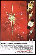 1950's Vintage Hamilton Everest Electric/Bracelette B/Cascade Watch Print AD