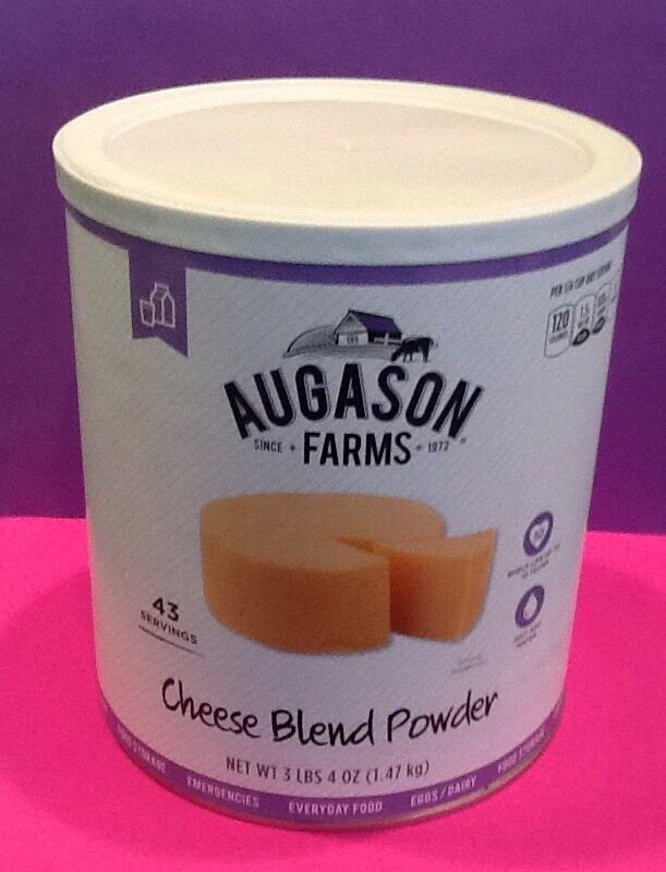 Augason Farms Cheese Blend Powder  3lbs Emergency Food Storage Prepper Survival  official website