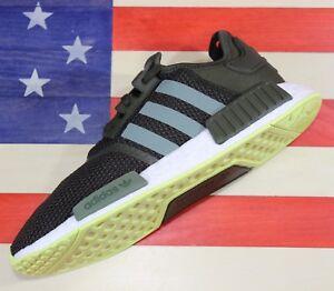 Adidas-Originals-NMD-R1-Boost-Men-039-s-Training-Shoe-Night-Cargo-Green-White-CQ2414