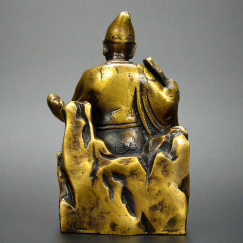 Chinese old collection handwork bronze gourd Ji Gong Buddha statue