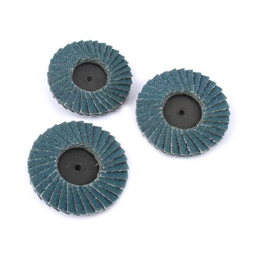 "10Pcs 2/"" R Roloc Flap Sanding Disc Twist Lock Grinding Wheel 80# For Deburring"
