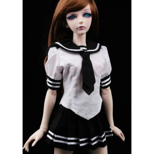 PF 251#black Sailor Dress//suit//equipment 1//3 SD DZ AOD LUTS BJD Dollfie
