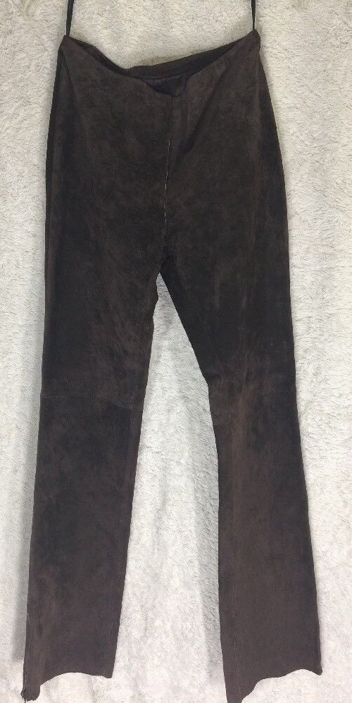 BEBE Brown SUEDE 100% Leather Pants Sz 8