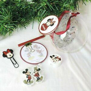 DISNEY-Weihnachts-Kugel-MICKEY-amp-MINNIE-MOUSE-Geschenk-Buero-8tlg-Christbaum