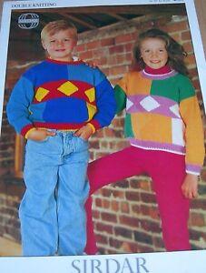 Original Sirdar Knitting Pattern Childrens DK Colour Block Sweaters No 4828 - Manchester, Lancashire, United Kingdom - Original Sirdar Knitting Pattern Childrens DK Colour Block Sweaters No 4828 - Manchester, Lancashire, United Kingdom
