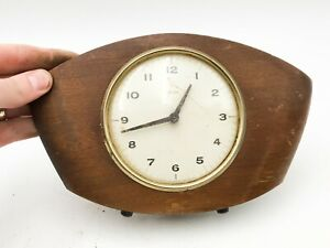 VINTAGE COLLECTABLE SMITHS MANTEL CLOCK WOODEN CASED