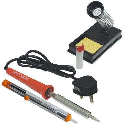 Desolder Pump /&10g Wire 30wt Solder Iron KIT with Stand