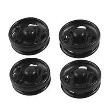 Clothes Sewing 8mm Press Studs Buttons Fastener Black 50 Pcs N3