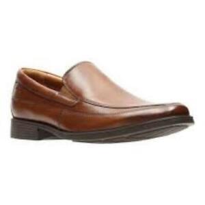 b810e5caf5 Clarks Men s Tilden Free Dark Tan Lea Loafer Shoes 26130098