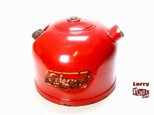Coleman Late 200A Red Lantern Fount 3/59 - Vintage Camping -