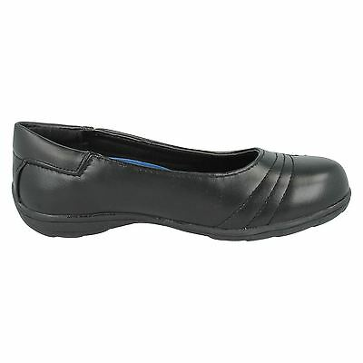 Mädchen Schwarz Ohne Bügel Smart Spot On Schuhe UK Größen 10 - 2 H2377