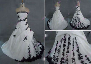 c0bff4072df97 2019 New Black and White Ball Gown Wedding Dress Bridal Gowns Custom ...