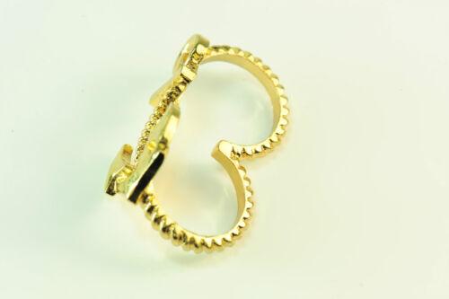 """Ladies Golden Premium /""""Marinero/"""" doble anillo declaración grueso único CL15"""