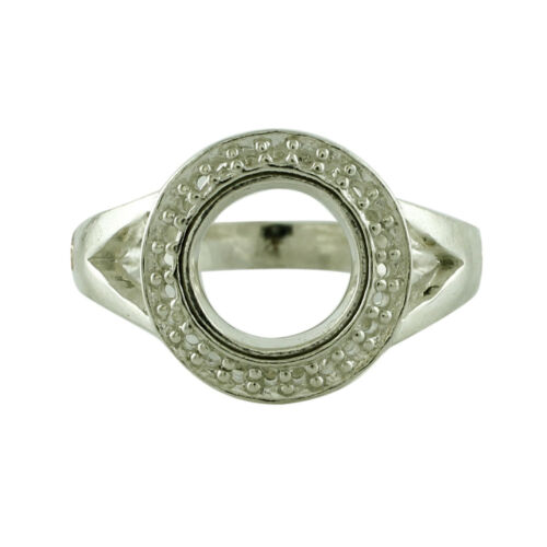 Details about  /Semi Mount Round Faceted Cut Anniversary Yellow Color Ring 925 Sterling Silver