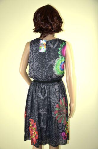 Desigual Ärmellos Bunte pretty Motive Sommer vest Chocolate Kleid qqf7HP