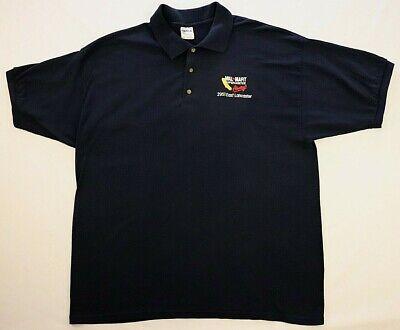 Wal Mart Supercenter Lancaster CA Polo Shirt 2XL Large Blue Gildan Uniform Worn   eBay